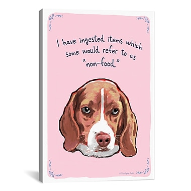iCanvas Foodie Beagle Canvas Print Wall Art; 26'' H x 18'' W x 0.75'' D