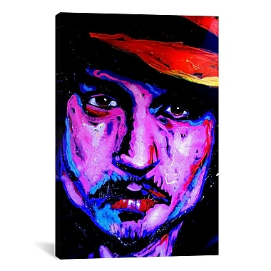 iCanvas Johnny Depp Art 002 Canvas Print Wall Art; 18'' H x 12'' W x 0.75'' D