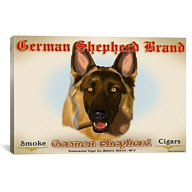 iCanvas German Cigar by Brian Rubenacker Graphic Art on Wrapped Canvas; 12'' H x 18'' W x 0.75'' D