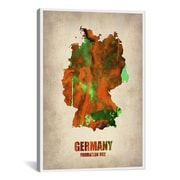 iCanvas Germany Watercolor Map Print by Naxart Graphic Art on Canvas; 41'' H x 27'' W x 1.5'' D