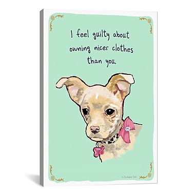 iCanvas Maya's Spoiled Rotten by Christopher Rozzi Graphic Art on Wrapped Canvas