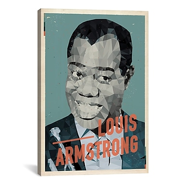 iCanvas American Flat Louis Armstrong Graphic Art on Wrapped Canvas; 26'' H x 18'' W x 0.75'' D