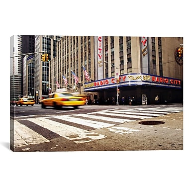 iCanvas New York City Radio City by Nina Papiorek Photographic Print on Wrapped Canvas