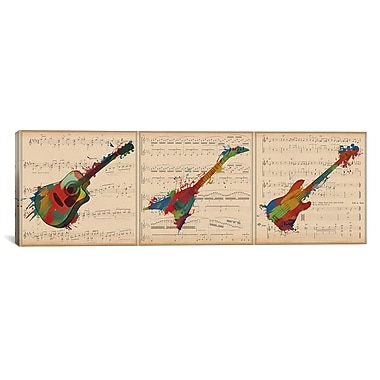 iCanvas Music Instrument Panoramic Graphic Art on Wrapped Canvas; 12'' H x 36'' W x 0.75'' D