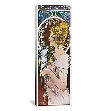 iCanvas The Pen, 1899 by Alphonse Mucha Graphic Art on Wrapped Canvas; 36'' H x 12'' W x 1.5'' D