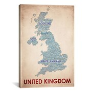 iCanvas United Kingdom Graphic Art on Canvas; 18'' H x 12'' W x 0.75'' D