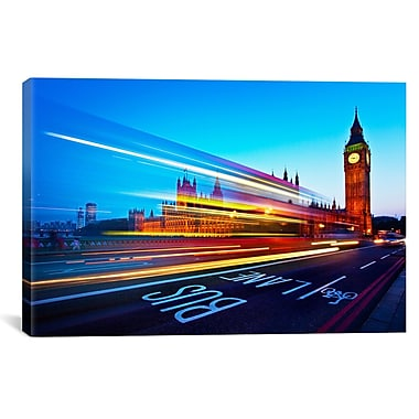 iCanvas London Big Ben by Nina Papiorek Photographic Print on Wrapped Canvas