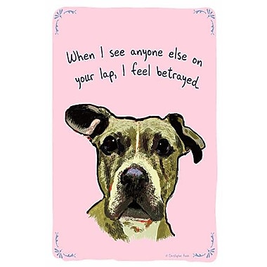 iCanvas Tiny Confessions Loyal Roxy by Christopher Rozzi Painting Print on Wrapped Canvas