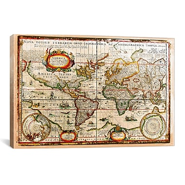 iCanvas Vintage Map by Maximilian San Graphic Art on Wrapped Canvas; 41'' H x 61'' W x 1.5'' D