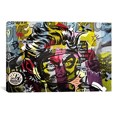 iCanvas Only Love by Dan Monteavaro Graphic Art on Wrapped Canvas; 26'' H x 40'' W x 0.75'' D
