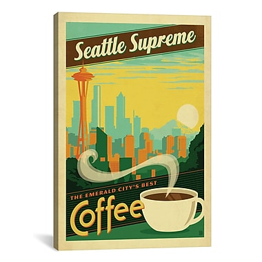 iCanvas COF Seattle Graphic Art on Wrapped Canvas; 40'' H x 26'' W x 0.75'' D