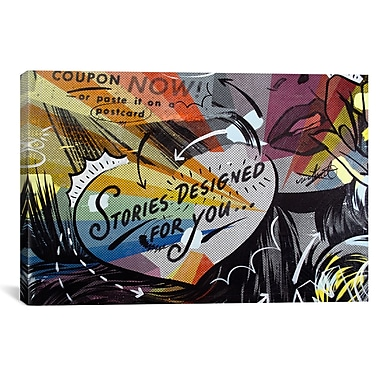 iCanvas Coupon Stories Graphic Art on Wrapped Canvas; 41'' H x 61'' W x 1.5'' D