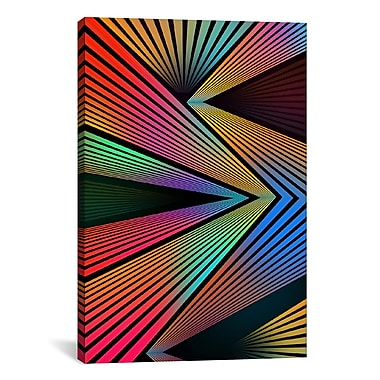 iCanvas Crazy Ranibow by Maximilian San Graphic Art on Wrapped Canvas; 40'' H x 26'' W x 0.75'' D