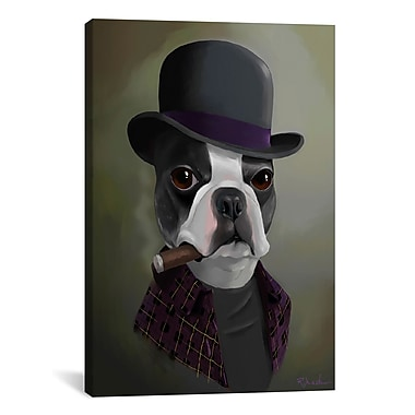 iCanvas Brian Rubenacker Bowler Hat by Brian Rubenacker Graphic Art on Wrapped Canvas