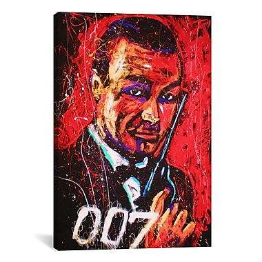 iCanvas Rock Demarco Bond 003 Graphic Art on Wrapped Canvas; 40'' H x 26'' W x 0.75'' D