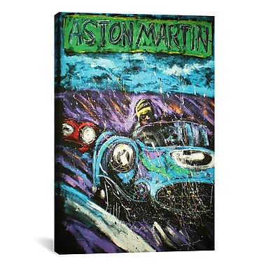 iCanvas Rock Demarco Aston Racecar Painting Print on Wrapped Canvas; 40'' H x 26'' W x 0.75'' D