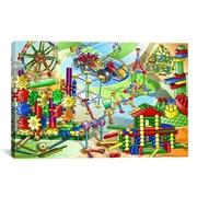 iCanvas Construction Toys Children Painting Print on Canvas; 18'' H x 26'' W x 1.5'' D