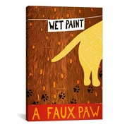 iCanvas Stephen Huneck A Faux Paw Yellow Canvas Print Wall Art; 40'' H x 26'' W x 0.75'' D
