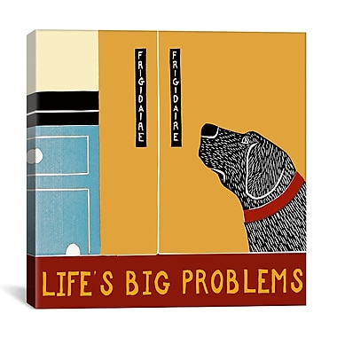 iCanvas Life's Big Problems Banner by Stephen Huneck Painting Print on Wrapped Canvas