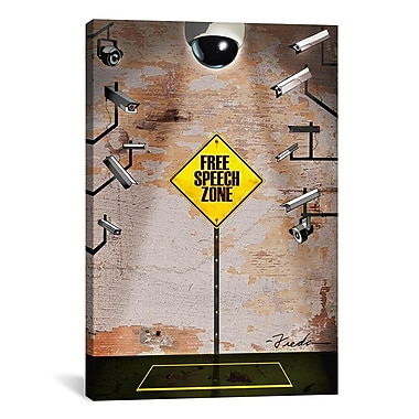 iCanvas Anthony Freda Speech Zone Graphic Art on Wrapped Canvas; 61'' H x 41'' W x 1.5'' D