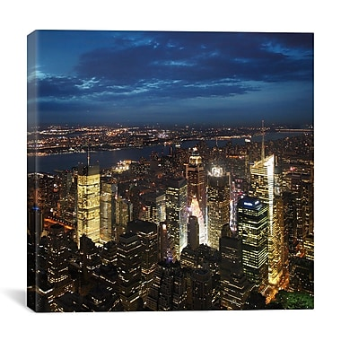 iCanvas New York City Times Square by Nina Papiorek Photographic Print on Wrapped Canvas