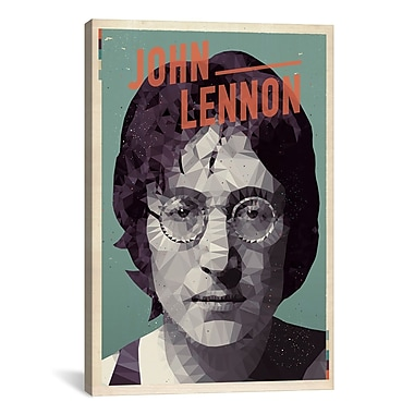 iCanvas American Flat Lennon Graphic Art on Wrapped Canvas; 40'' H x 26'' W x 0.75'' D