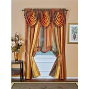 Achim Importing Co Ombre Tie-up Valance; Chocolate