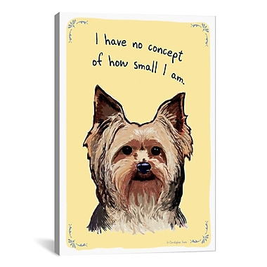 Tiny Confessions Yorkie Thoughts: Big Things by Christopher Rozzi Graphic Art on Wrapped Canvas