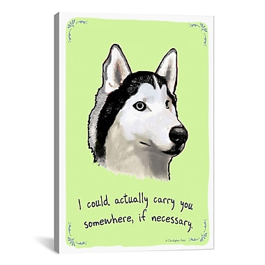 iCanvas Tiny Confessions Poised Husky by Christopher Rozzi Painting Print on Wrapped Canvas