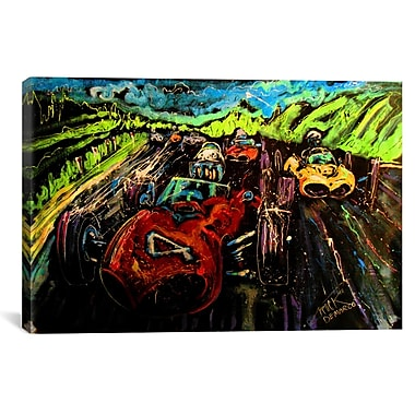 iCanvas Vintage Racing 005 Canvas Print Wall Art; 18'' H x 26'' W x 0.75'' D