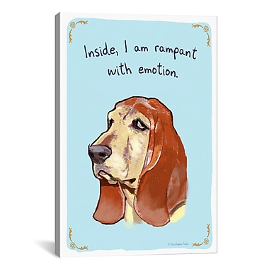 iCanvas Tiny Confessions Loving Blood Hound by Christopher Rozzi Painting Print on Wrapped Canvas