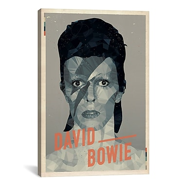 iCanvas American Flat David Bowie Graphic Art on Wrapped Canvas; 26'' H x 18'' W x 0.75'' D