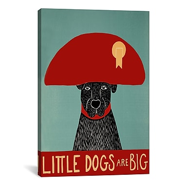 iCanvas Little Dogs Are Big by Stephen Huneck Painting Print on Wrapped Canvas