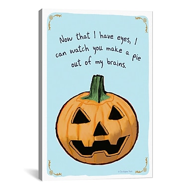 iCanvas Tiny Confessions Pumpkin Pie by Christopher Rozzi Painting Print on Wrapped Canvas