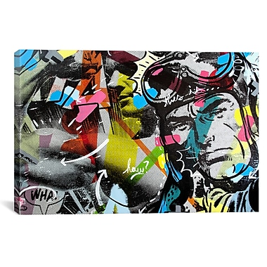 iCanvas Dan Monteavaro Strongman Graphic Art on Wrapped Canvas; 41'' H x 61'' W x 1.5'' D