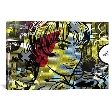 iCanvas Man Hunter by Dan Monteavaro Graphic Art on Wrapped Canvas; 26'' H x 40'' W x 1.5'' D