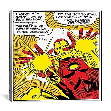 iCanvas Marvel Comics Book Iron Man Panel Art B Graphic Art on Wrapped Canvas