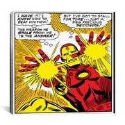 iCanvas Marvel Comics Book Iron Man Panel Art B Graphic Art on Canvas; 26''H x 26'' W x 1.5'' D