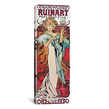 iCanvas Champagne Ruinart, 1896 Graphic Art on Wrapped Canvas; 12'' H x 36'' W x 0.75'' D