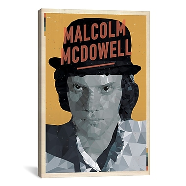 iCanvas 'Malcolm McDowell' by American Flat Graphic Art on Canvas; 18'' H x 12'' W x 0.75'' D