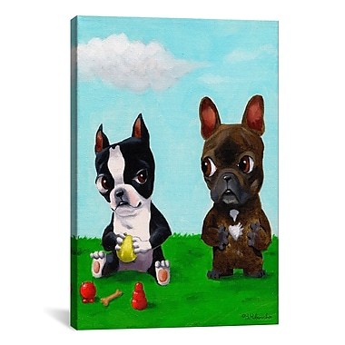 iCanvas Brian Rubenacker Bt Frenchie Graphic Art on Wrapped Canvas; 41'' H x 27'' W x 1.5'' D