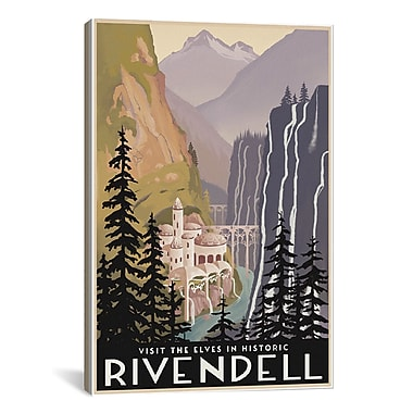 iCanvas Visit Historic Rivendell by Steve Thomas Graphic Art on Wrapped Canvas
