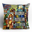 DENY Designs Robin Faye Gates Musical Chairs Polyester Throw Pillow; 18'' x 18''