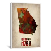 iCanvas Georgia Watercolor Map by Naxart Graphic Art on Wrapped Canvas; 61'' H x 41'' W x 1.5'' D