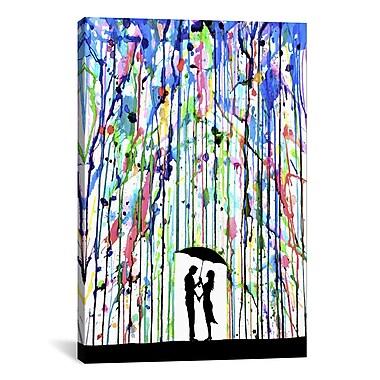 iCanvas 'Pour Deux' by Marc Allante Painting Print on Wrapped Canvas; 26'' H x 18'' W x 0.75'' D