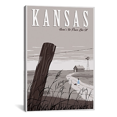 iCanvas Wizard of Oz Kansas Duo by Steve Thomas Graphic Art on Wrapped Canvas