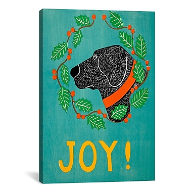 iCanvas Joy Black by Stephen Huneck Painting Print on Wrapped Canvas; 26'' H x 26'' W x 0.75'' D