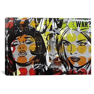 iCanvas Dan Monteavaro Another War by Dan Monteavaro Graphic Art on Wrapped Canvas