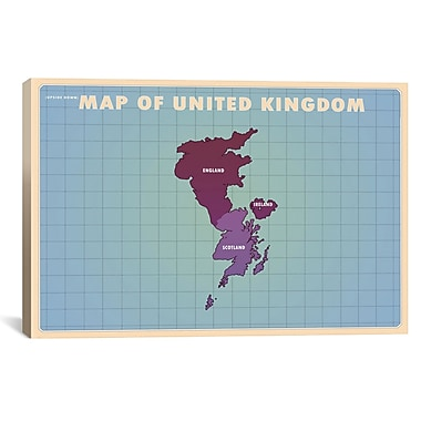 iCanvas Upside Down United Kingdom Graphic Art on Wrapped Canvas; 27'' H x 41'' W x 1.5'' D