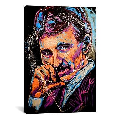 iCanvas Rock Demarco Nikola Tesla 003 by Rock Demarco Painting Print on Canvas